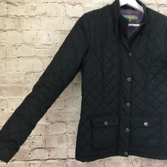 Boden Jackets Coats Womens Black Quilted Jacket Coat Small 4